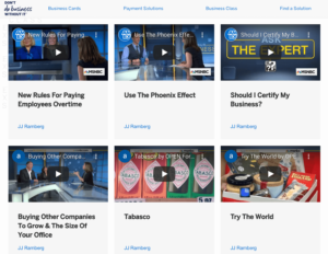 American Express Content Marketing Example