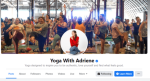 Yoga with Adriene Page
