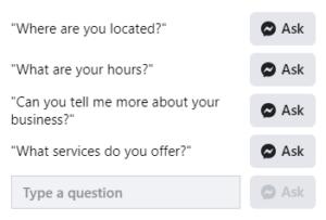 Facebook messenger sample